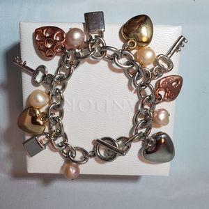 Jewelry - Nwot silver charm bracelet
